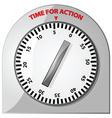 time for action vector image vector image