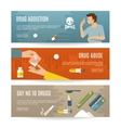 Flat Drugs Banner Set vector image
