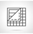 Floor covering black line icon vector image