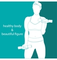 healthy body beautiful figure vector image