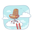 office armchair of the head standing high vector image