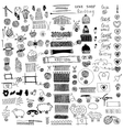 Set of knitting and crafts vector image