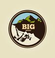 vintage mountain climbing round logo - sport vector image
