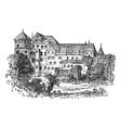 Vintage Stuttgart palace vector image