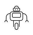 Symbol of Personal Droid Thin line Icon of Future vector image vector image