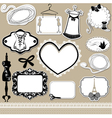 Set of frames symbols tools and accessories vector image vector image