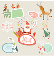 Christmas set frames part 1 vector image vector image