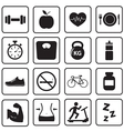 Health and Fitness icon vector image