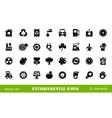32 environmental icons vector image