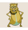 cartoon character smiling beast standing vector image vector image