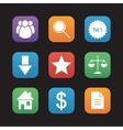 E-commerce and marketing flat design icons set vector image