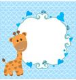 baby shower giraffe vector image