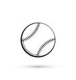 Baseball isolated vector image