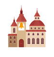 chirch building flat colorful icon vector image