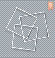 collection of paper corners frames and edges vector image