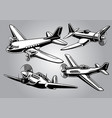 collection of world war 2 military aircraft vector image