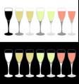 drink cups vector image