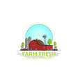 farm fresh logo template vector image