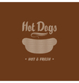 Hot dogs vector image