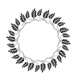 Laurel wreath circle tattoo icon Ornament of dove vector image