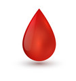single blood drop isolated on white background vector image