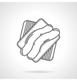 Striped cookie flat line icon vector image