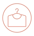 Sweater on hanger line icon vector image