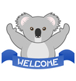 Welcome koala vector image