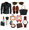 women and woman fashion accesories vector image