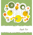 Summer floral abstract background vector