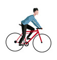 guy rider bike transport vector image
