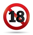 Adults only content sign XXX sticker vector image