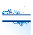 Abstract water wave vector image vector image