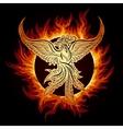 Phoenix in Flame vector image