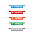 Winter sale paper tag labels vector image