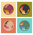 assembly flat icons earth gays symbol vector image