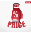 Beat Cheap prices Boxing glove vector image
