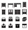 cabinet storage icon set vector image