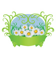 Daisies and ribbon vector image
