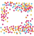 Festive Celebration Bright Confetti Isolated on vector image