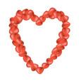 rose petals in shape of heart vector image