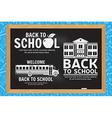 Set of Back to School retro design vector image