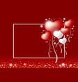 love concepts of heart balloon vector image