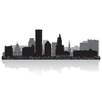 Providence USA city skyline silhouette vector image vector image