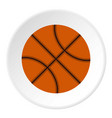 orange basketball ball icon circle vector image vector image