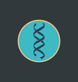 dna genetic sign icon vector image