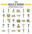 build and repair filled outline icon set vector image