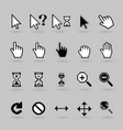 Cursors icons vector image