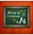 Christmas pattern in frame vector image