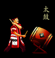 Taiko drums show poster vector image